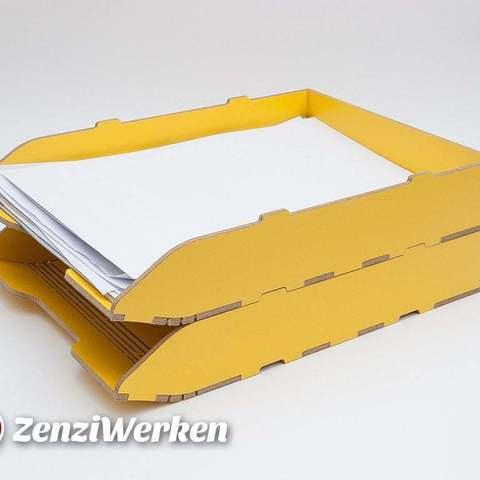Descargar modelos 3D gratis Bandeja de archivo apilable cnc/laser, ZenziWerken