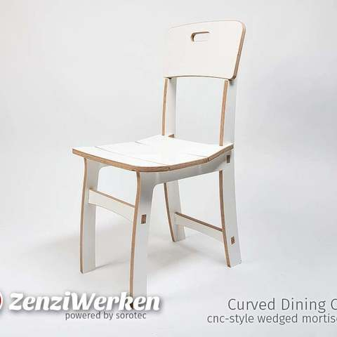 Incredible Curved Dining Chair Cnc Ibusinesslaw Wood Chair Design Ideas Ibusinesslaworg