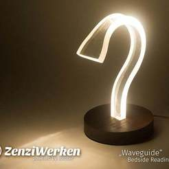 "9efe69daae3226289fe5f324281ceefc_display_large.jpg Download free STL file ""Waveguide"" Bedside Reading Lamp cnc • 3D printable template, ZenziWerken"