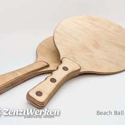 Télécharger STL gratuit Chauve-souris Beach Ball cnc/laser, ZenziWerken