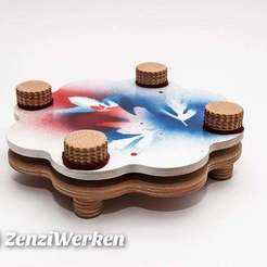 Download free 3D printer model Flower Press cnc/laser, ZenziWerken