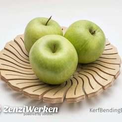 Objet 3D gratuit KerfBendingBowl cnc/laser, ZenziWerken