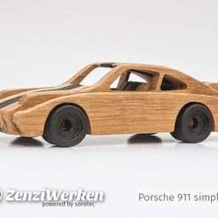 Descargar archivos 3D gratis Porsche 911 simplificado cnc/laser, ZenziWerken