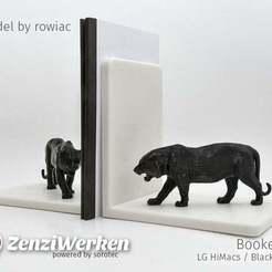 Télécharger objet 3D gratuit Mike le Tigre serre-livres, ZenziWerken