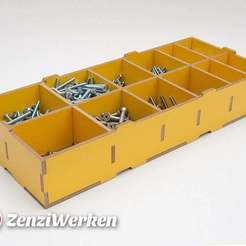 Download free 3D print files Compartment Storage Box cnc/laser, ZenziWerken