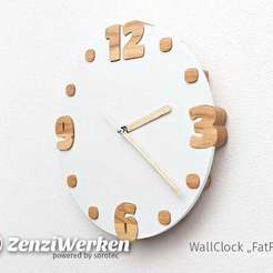 "Download free 3D printer templates WallClock ""FatFour"" cnc, ZenziWerken"