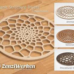 Download free 3D model Various Organic Structure Trivets cnc/laser, ZenziWerken
