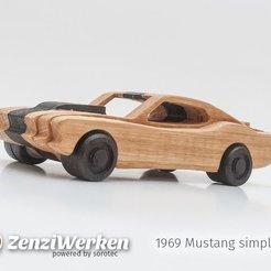 Descargar Modelos 3D para imprimir gratis 1969 Mustang simplificado cnc/laser, ZenziWerken