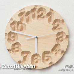 "779744832aa6be508e9a04c0a3b81eea_display_large.jpg Download free STL file Clock Face ""Gorgeous Gorges"" cnc • 3D printer model, ZenziWerken"