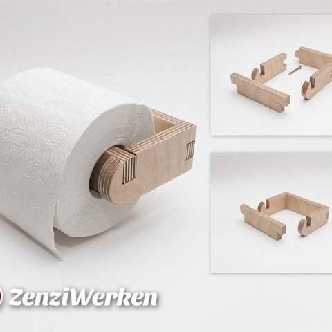 Fichier STL gratuit Porte-rouleau simple cnc/laser, ZenziWerken