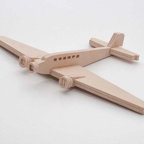 Modèle 3D gratuit Junkers Ju-52 Ju-52 simplifié cnc/laser, ZenziWerken