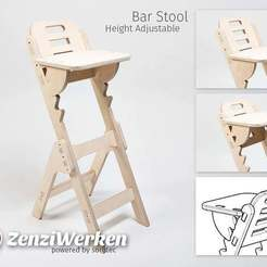 9f9129c48eaef8b8cd8f24c368b3ce12_display_large.jpg Download free STL file Height Adjustable Bar Stool cnc • 3D printer design, ZenziWerken