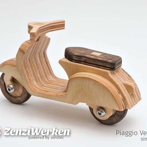 Vespa Piaggio 125 simplified cnc