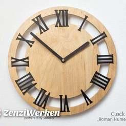 "Descargar modelos 3D gratis Cara de reloj ""Números romanos"" cnc/laser, ZenziWerken"