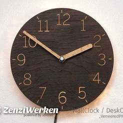 "Download free 3D printing models Clock Face ""VeneeredPMMA"" cnc, ZenziWerken"