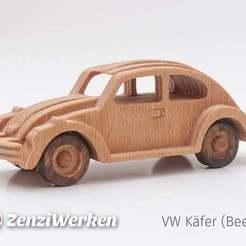 Télécharger STL gratuit VW Coccinelle simplifiée cnc/laser, ZenziWerken