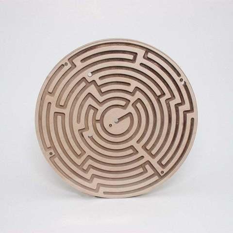 Fichier impression 3D gratuit Labyrinthe circulaire double face, ZenziWerken