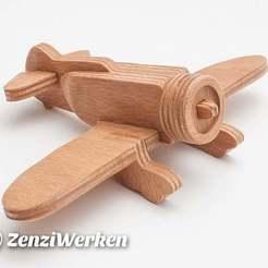 Télécharger STL gratuit Granville Gee Bee Z40 cnc simplifié cnc/laser, ZenziWerken