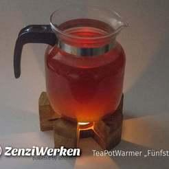 "8d7125f9396c23e78fc50dab2deff4f5_display_large.jpg Download free STL file TeaPotWarmer ""Fünfstrahl"" cnc • 3D print template, ZenziWerken"