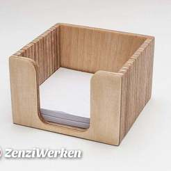Download free 3D printer designs Memo Cube Holder cnc/laser, ZenziWerken