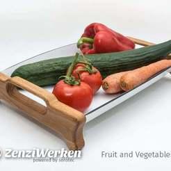 Descargar archivos STL gratis Bandeja de frutas y verduras cnc, ZenziWerken