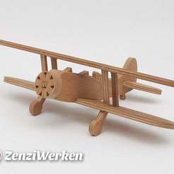 Descargar archivos 3D gratis Waco UPF-7 Biplano simplificado cnc/láser, ZenziWerken