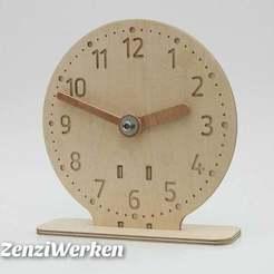 Descargar modelos 3D gratis Reloj didáctico para niños cnc/laser, ZenziWerken