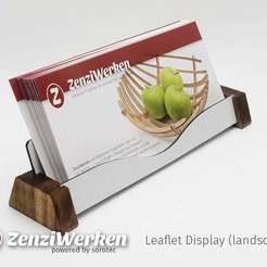 Download free 3D model Leaflet Display (horizontal) cnc, ZenziWerken