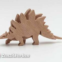 Download free 3D printer files Dino Stegosaurus 3-layered-animal cnc/laser, ZenziWerken