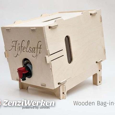 Download free 3D printing files Wooden Bag-in-Box cnc, ZenziWerken