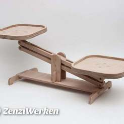Télécharger STL gratuit Pèse-jouet pour enfants cnc/laser, ZenziWerken