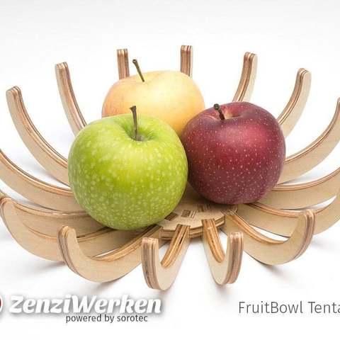 Télécharger fichier STL gratuit FruitBowl Tentacules cnc/laser, ZenziWerken