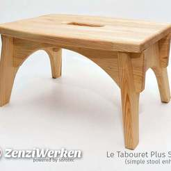 Descargar modelos 3D gratis Le Tabouret Plus Stable (taburete simple mejorado) cnc, ZenziWerken