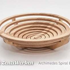 Download free 3D printing files Archimedes Spiral Bowl cnc/laser, ZenziWerken