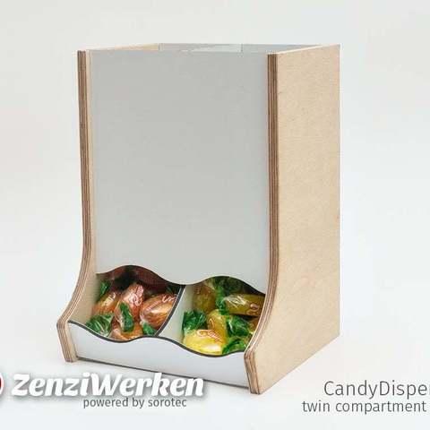 Télécharger STL gratuit CandyDispenser | Édition à deux compartiments cnc, ZenziWerken