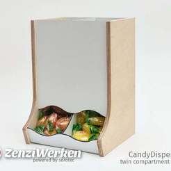 Download free 3D printing files CandyDispenser | Twin Compartment Edition cnc, ZenziWerken