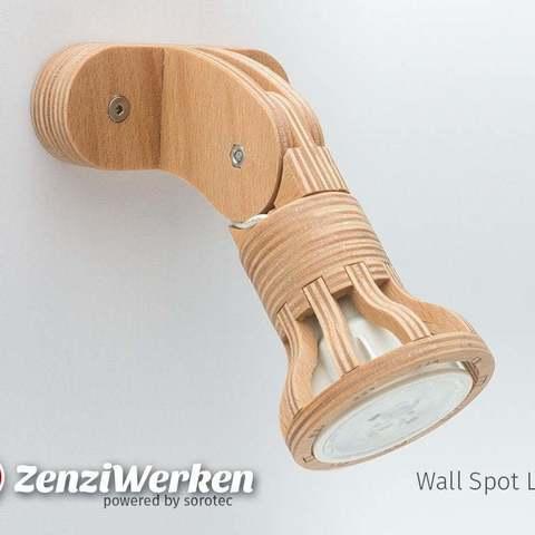 Télécharger fichier STL gratuit Lampe spot mural cnc/laser, ZenziWerken