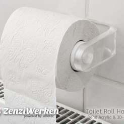Télécharger fichier impression 3D gratuit Porte-rouleau de papier hygiénique'Clear & Clean' (transparent et propre), ZenziWerken