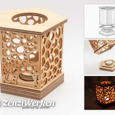 Télécharger fichier impression 3D gratuit Lanterne de gril à 5 côtés cnc/laser, ZenziWerken