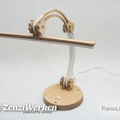 Download free 3D printing designs PianoLamp cnc/laser, ZenziWerken