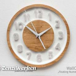 "b1da417dc872c401d8e743724fba0c44_display_large.jpg Download free STL file WallClock ""Floating Numerals"" cnc • 3D printable model, ZenziWerken"