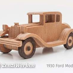 Download free 3D printing files 1930 Ford Modell A  simplified cnc/laser, ZenziWerken