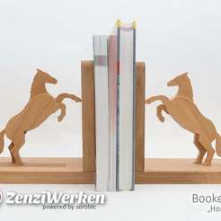 Download free 3D printing files Bookends Horses (cnc), ZenziWerken