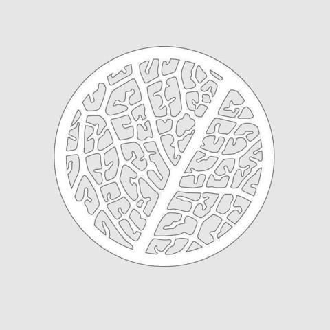 Leaf Structure Trivet cnc/laser