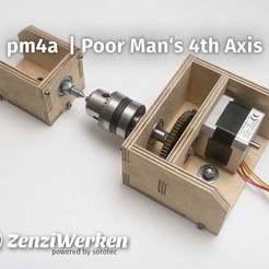 Descargar archivos 3D gratis Cnc del 4º Eje del Hombre Pobre, ZenziWerken