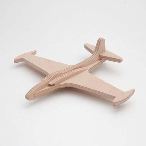 Fichier impression 3D gratuit Lockheed P-80 simplifié cnc/laser, ZenziWerken