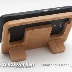 Download free 3D printing files Travel Bedside Phoneholder // Hardwood cnc/laser, ZenziWerken