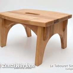 Télécharger STL gratuit Le Tabouret Simple (tabouret simple) cnc, ZenziWerken