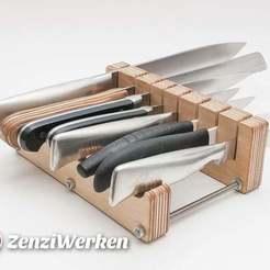 Télécharger fichier 3D gratuit Bloc de couteaux en deux parties cnc/laser, ZenziWerken
