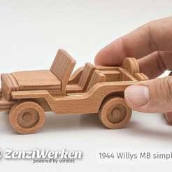 Download free 3D printer designs Willys MB simplified cnc/laser, ZenziWerken